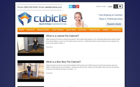 Screenshot of Blog cubicle.com - Cubicle Blog for Sale at Cubicle.com: Fast & Free Shipping - captured Oct. 3, 2014