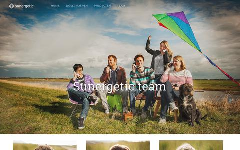 Screenshot of Team Page sunergetic.nl - Team - captured Nov. 10, 2017