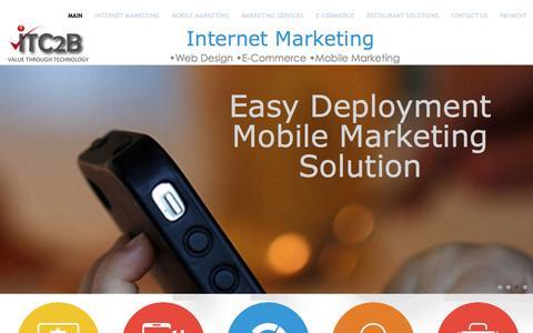 Screenshot of Home Page itc2b.com - Main - captured Dec. 22, 2015
