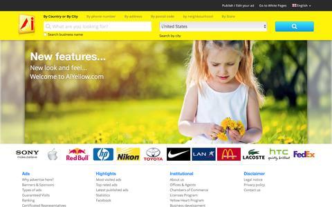 Screenshot of Home Page amarillasinternet.com - AiYellow English - captured Dec. 2, 2015