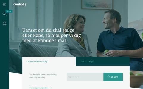 Screenshot of Home Page danbolig.dk - danbolig.dk - captured Aug. 8, 2018