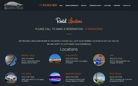 Screenshot of Locations Page bhrentacar.com - Rental Location US - Beverly Hills Rent-a-Car - captured Sept. 24, 2018