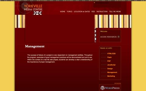 Screenshot of Team Page yorkvillemediacentre.com - Yorkville Media Centre » Management - captured Oct. 9, 2014