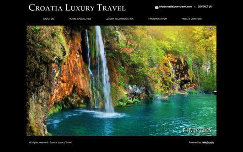 Screenshot of Home Page croatialuxurytravel.com - Luxury Travel Croatia | Dubrovnik | London - captured Dec. 13, 2015