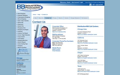 Screenshot of Contact Page ctnetworks.net - B2B Industrial Packaging - Help - captured Nov. 4, 2018