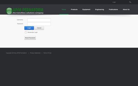 Screenshot of Login Page permaform.net - User Log In - captured Nov. 19, 2016