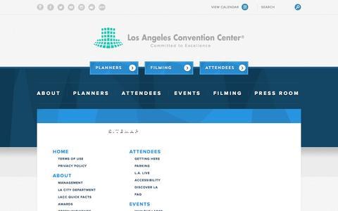 Screenshot of Site Map Page lacclink.com - Sitemap - captured Nov. 2, 2014