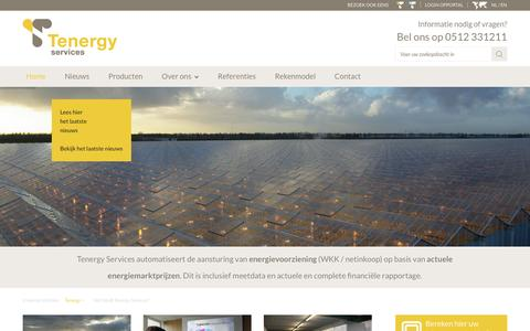 Screenshot of Services Page tenergy.nl - Tenergy | - captured Feb. 14, 2016