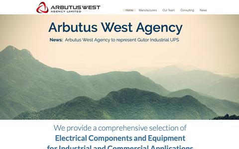 Screenshot of Home Page arbutuswest.com - Arbutus West Agency - captured Oct. 4, 2018