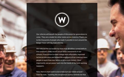 Screenshot of Home Page scottwalker.com - ScottWalker.com | Moving Conservativsm Forward - captured May 16, 2019