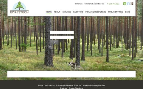 Screenshot of Login Page forestech.us - User Log In - captured Oct. 6, 2014