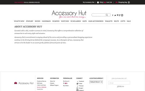 Screenshot of About Page accessoryhut.com - About Us - captured May 29, 2017