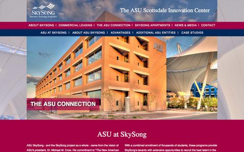 Screenshot of Case Studies Page skysongcenter.com - The ASU Connection - captured Oct. 26, 2014