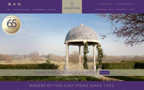 Screenshot of Home Page chilstone.com - Cast Stone Ornaments & Architectural Stone Work Made in Britain - captured July 17, 2018