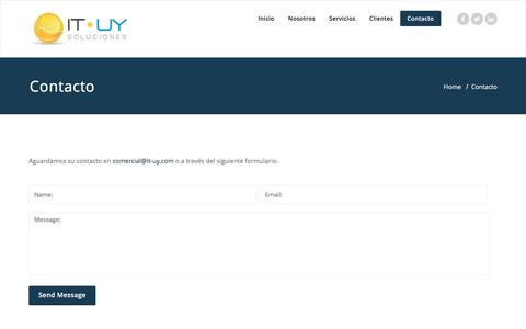 Screenshot of Contact Page it-uy.com - Contacto – IT-UY Soluciones - captured Nov. 19, 2016