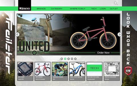 Screenshot of Home Page upgradebikes.co.uk - Upgrade Bikes UK - Bike parts & Accessories - Upgrade Bikes - captured Sept. 30, 2015