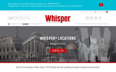 Screenshot of Locations Page whisper-system.net - Franchising Wireless audio guide system. Buy radio guide. Wireless tour guide systems. Audio Guide equipment. Whisper radio audio tour guide system. - captured Oct. 20, 2018