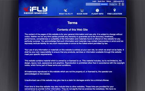 Screenshot of Terms Page iflyworld.com - Terms - captured Sept. 19, 2014
