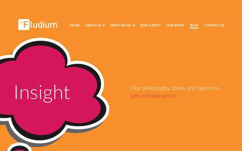 Screenshot of Blog fludium.com - Our Brand Strategy Blogs | Fludium Branding Agency - captured Nov. 4, 2018