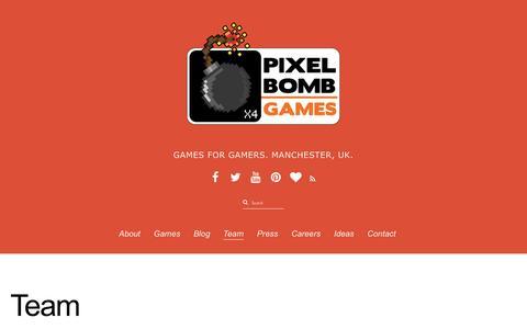 Screenshot of Team Page pixelbombgames.com - Team - captured Dec. 9, 2015
