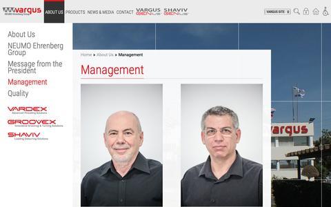 Screenshot of Team Page vargus.com - Management   About Us   Vargus - captured Nov. 18, 2018