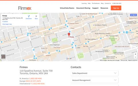 Contact Us - Firmex