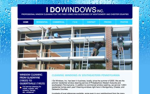 Screenshot of Home Page idowindows.org - I Do Windows Inc. | Window Cleaning | Pennsylvania | Montgomery & Chester County - captured Feb. 2, 2016