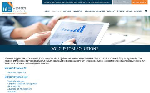 Custom Solutions | Western Computer | www.westerncomputer.com