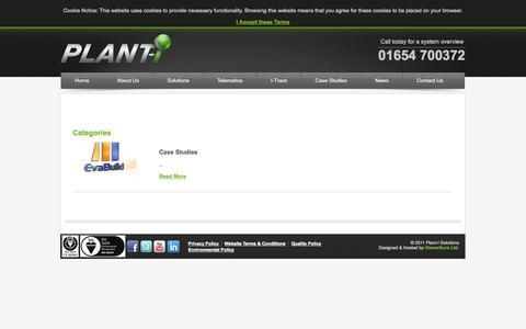 Screenshot of Case Studies Page plant-i.co.uk - Case Studies - captured Oct. 2, 2014