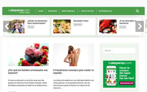 Screenshot of Blog tudespensa.com - Vivir Mejor, el blog de Tudespensa.com - captured June 30, 2017