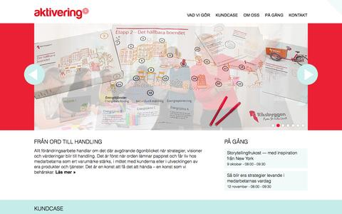 Screenshot of Home Page aktivering.se - Start • Aktivering - captured Sept. 30, 2014