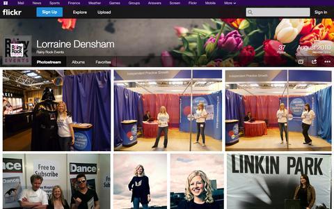 Screenshot of Flickr Page flickr.com - Flickr: Rainy Rock Events' Photostream - captured Oct. 25, 2014