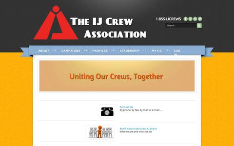 Screenshot of Services Page ijc.us - Services - The IJ Crew Association - captured Nov. 5, 2014