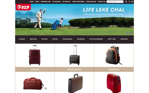 Screenshot of Products Page vipbags.com - vip handbags,vip india,VIP luggage,VIp bag price, bags & luggage online , buy vip online - VIP Bags: Travel Bags, Business Bags, Accessories, Duffle Bags, Strolly Bags, Trolley Bags, Backpack, Briefcase, Suitcase - captured Oct. 30, 2014