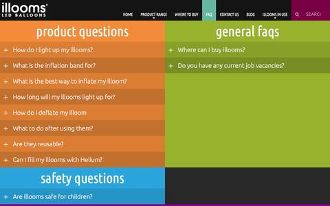 Screenshot of FAQ Page illooms.com - FAQ - Illooms - captured July 10, 2018
