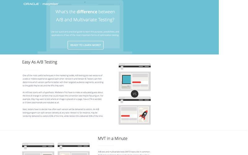 Maxymiser - What's the difference between A/B and Multivariate testing?