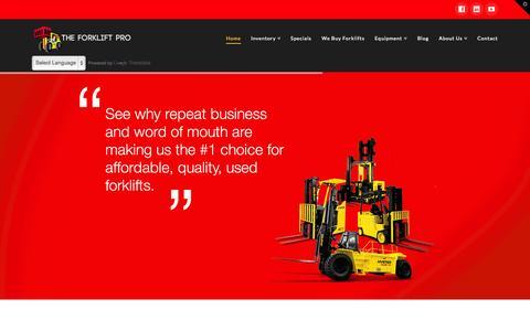 Screenshot of Home Page theforkliftpro.com - The Forklift Pro | Forklift Wholesale & Material Handling Equipment - captured Jan. 24, 2015