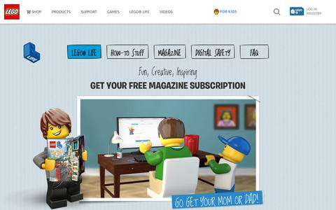 Screenshot of Signup Page lego.com - LEGO Life Subscription US - captured Aug. 31, 2018