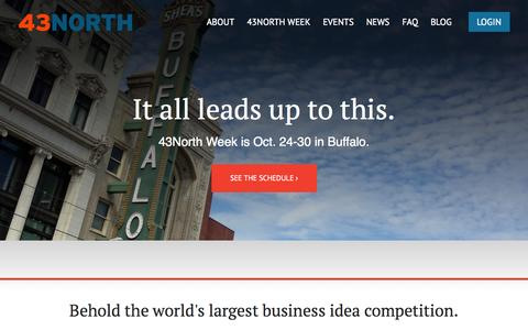 Screenshot of Home Page 43north.org - Welcome to 43North - captured Sept. 22, 2014