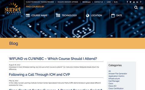 Screenshot of Blog sunsetlearning.com - Blog | Sunset Learning Institute - captured Oct. 25, 2017