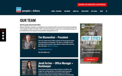 Screenshot of Team Page peopleforbikes.org - Our Team • PeopleForBikes - captured July 29, 2019