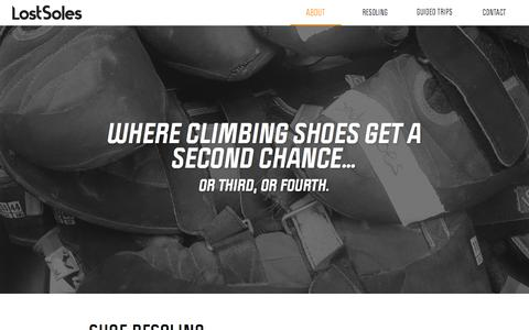 Screenshot of Home Page About Page lostsolesclimbing.com - Lost Soles Climbing - captured May 22, 2017