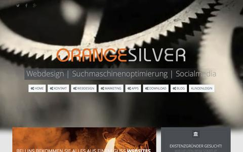 Screenshot of Home Page orange-silver.de - Webdesign Agentur - Orange Silver-  Webdesign aus Buchholz - captured Sept. 10, 2015