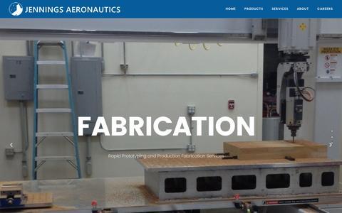 Screenshot of Home Page jenaero.com - Jennings Aeronautics – Unmanned Aerial Vehicle Solutions - captured Nov. 19, 2016