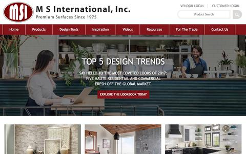 Screenshot of msistone.com - 2017 Design Trends | Floor & Wall Tile, Countertops, Hardscaping - captured June 20, 2017