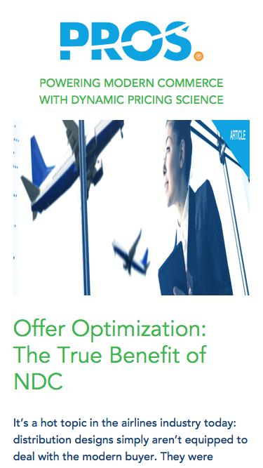 Offer Optimization | PROS Resources | PROS