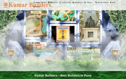 Screenshot of Home Page kul.co.in - Kumar Builders - Builders in Pune | Best Builders in Pune - captured Sept. 6, 2019