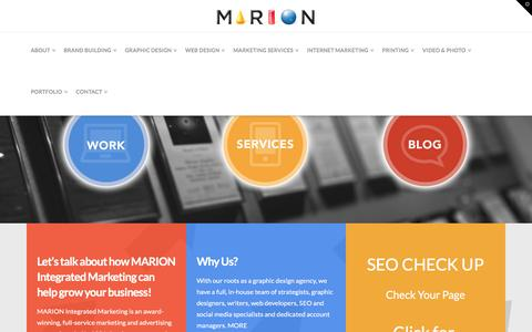 Houston Marketing Firm & Advertising Agency, Graphic Design MARION