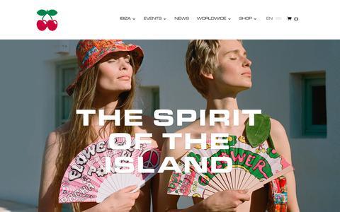 Screenshot of Home Page pacha.com - PACHA Ibiza. - captured Sept. 23, 2018