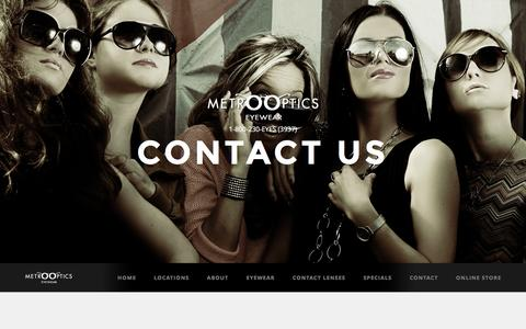 Screenshot of Contact Page Locations Page eyewear-bronx.com - Contact Eye Specialist in Bronx | Bronx Contact Optician | Contact Eye Specialist near Bronx - captured Jan. 31, 2017